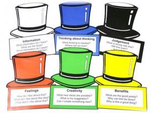 I sei cappelli di pensiero di De Bono
